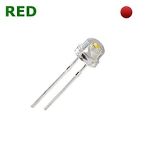 TKL-SH5R | LED DIODE 4.8 MM RED - STRAW HAT CLEAR BAG OF 1KPCS