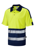 Leo WATERSMEET ISO 20471 Cl 1 Dual Colour Coolviz Plus Polo Shirt
