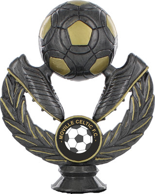 110mm Soccer Ball & Boots Holder (Ant Silver