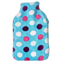 FLEECE COVERED DOUBLE RIBBED HOT WATER BOTTLE