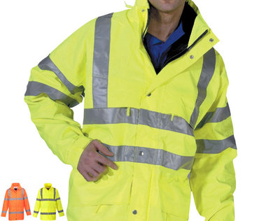 BOA Hi-Vis Waterproof Nylon Anorak Yellow or Orange