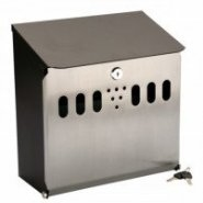 Wall Mounted Cigarette Bin 270mm x 135mm x 280mm High