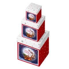 LIGHT UP FLY SANTA BOX WHITE/RED