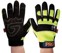 ProFit Reinforced Palm Mechanics Glove Hi Vis Yellow