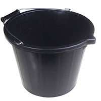 Black Builders Bucket 3gal (WT873)