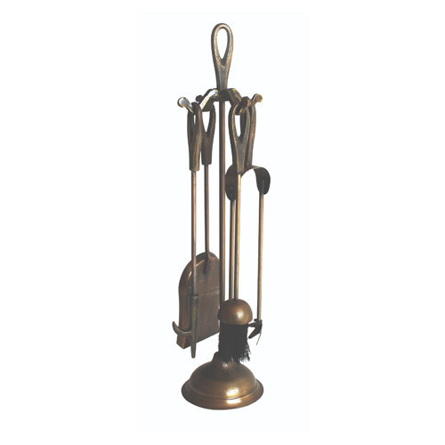 Sirocco The Collection Loop Top Companion Set Antique Brass Finish - 48cm