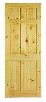 """6 P Pre Fin Red Deal Door 6' 6"""" X 2' 4"""" Sq. Top"""