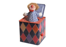 Clown Jack in the Box Toy