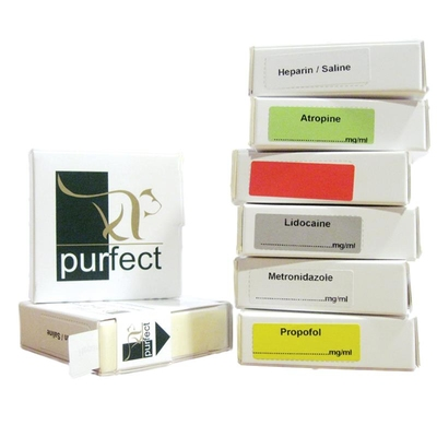Purfect Syringe Drug Label (400) - Date Delivered