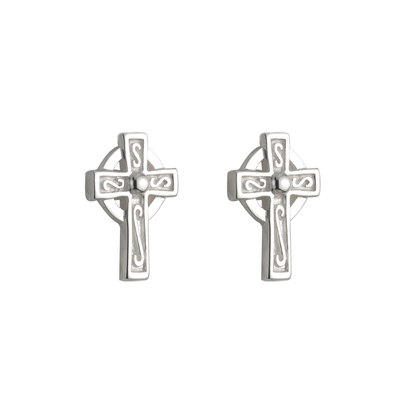S/S SMALL CROSS STUD EARRINGS POST 11 MM