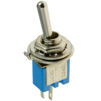 Switch| Toggle Switch  Sub-Mini Blue ON-OFF SPST 2 Pins Solder Terminals