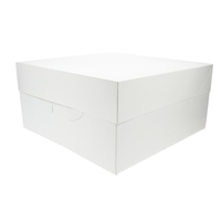 "90054 WHITE 12""""CAKE BOX (BOX 50)"