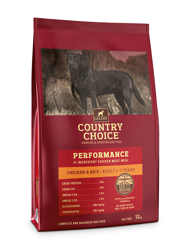 Gelert Country Choice Performance Chicken Adult Dog Food 12kg