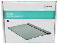 Wall mount media shelf DVDB2