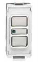 Flatplate Grid Mirror Steel Telephone Point Module LV0701.1339