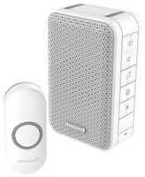 WIRELESS  DOORBELL WITH WITH VOLUME CONTROL WHITE