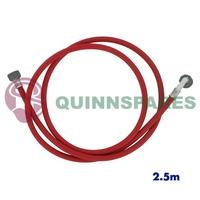 Red / Hot Machine Fill Hose 2.5 Metre Single