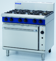 Blue Seal G56D 6 Burner Gas Convection Oven Range 900 x 812 x 1085mm