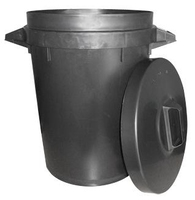 BM199 BLACK DUSTBIN 90 LTR