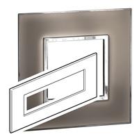 Arteor (British Standard) Plate 8 Module Square Mirror Taupe | LV0501.0345