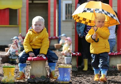 Callum wowed the Wellie Walk with the Brightest Boots at the Ploughing