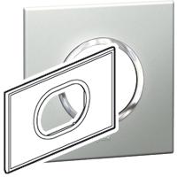 Arteor (British Standard) Plate 3 Module Round Pearl Alu | LV0501.0126