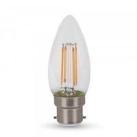 4w Candle Filament Bulb 3000K B22