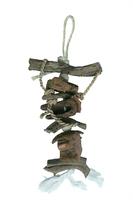 Beaks Big Beaks Tropical Hanging Wood & Cocoa Shell Bird Toys 60cm x 6