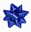 MEDIUM BLUE METALLIC BOWS (PACK 100)