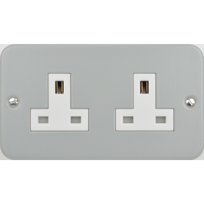 Metalclad Exclusive 2 Gang Unswitched Socket