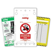 Forkliftag inspection tagging system (1 per pack)