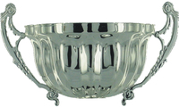 100mm Peltate Bowl with Handles (Silver)