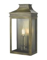 Vapour Coach Lantern Wall Light IP44, Weathered Brass  | LV1802.0170