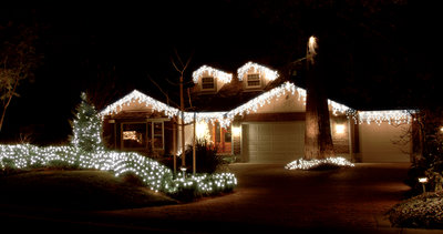 360 Led Snowing Icicle Lights Cool White Homevalue