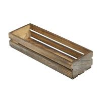 Wooden Crate Dark Rustic 34 x 12 x 7cm