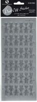 Crosses Large Peel-Off Silver (Priced in singles, order in multiples of 6)