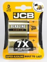 JCB BATTERY SUPER ALKALINE D CARD 2