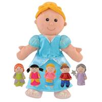 Cinderella hand and finger puppet set