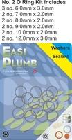 Easi Plumb 13 Pce No. 2 Medium O Ring Kit