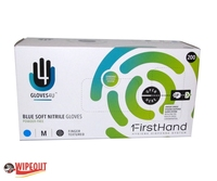 Blue nitrile gloves powder free