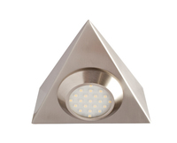 Robus 2W LED Triangular Cabinet Light WW Brushed Chrome