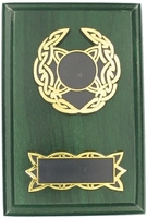 15cm Green Plaque with Celtic Trim
