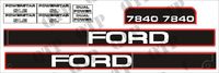 Decal Kit Ford 7840