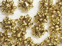 MEDIUM GOLD METALLIC BOWS (PACK 100)