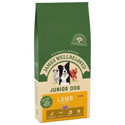James Wellbeloved Lamb & Rice Junior Dog Food 15kg
