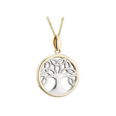 9K TT TREE OF LIFE PENDANT