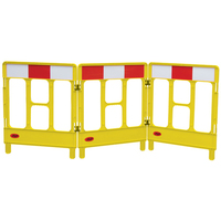 Workgate 3 Gate with Reflectives - Yellow