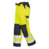 Portwest Lyon Hi-Visibility Trousers Hi-Vis Yellow/Navy