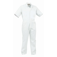 TWZ Food Industry Nylon Zip Short Sleeve Polycotton Overall 240gsm