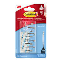17067CLR-9 Command Clear Small Wire Hooks with Clear Strips Value Pack 9